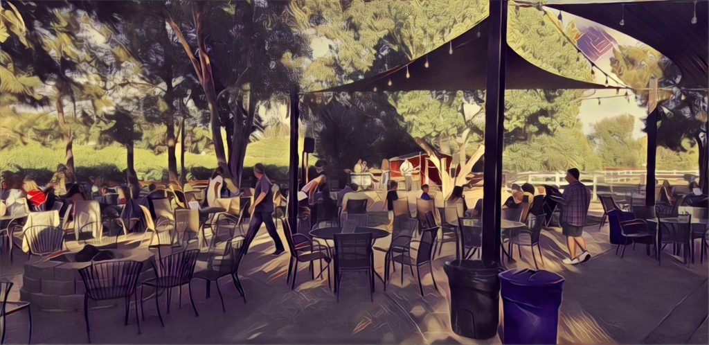picture of band playing at picture of Longshadow Ranch Winery in Temecula, CA
